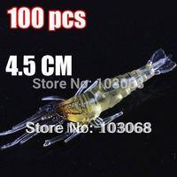100PCS/LOT New Shrimp shape ,fishing baits,fishing lure, fishing tackle, soft lure 4.5CM 1.2g Free Shipping
