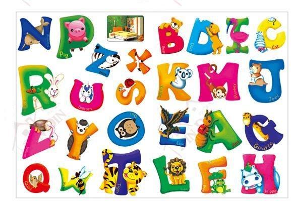 Font b Best b font seller PVC Alphabet wall stickers 50pcs lot
