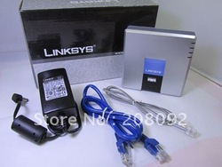NEW Linksys SPA2102 VoIP Phone Adapter with Router 2FXS the EU AU US UK power supply piug(China (Mainland))