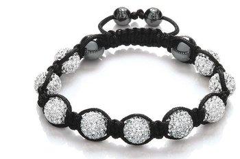 Shamballa Bracelets Wholesale, free shipping, New crystal Shamballa Bracelets Micro Pave CZ Disco Ball Bead CJB 076