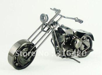 Metal iron handicraft round turn head motorcycle swinging simulation personality innovation send boyfriend husband