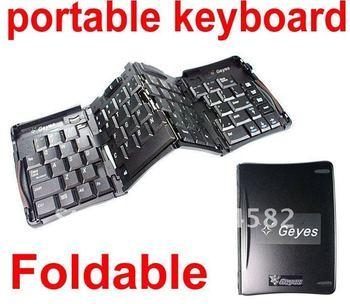 Free shipping Geyes Foldable Stow-away Mini Keyboard USB Keyboard Folding Keyboard