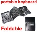 Free shipping Geyes Foldable Stow-away Mini Keyboard USB Keyboard Folding Keyboard