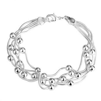 , 925 silver jewelry Bracelet , Five-wire light bead bracelets, fashion jewelry Bracelet ...