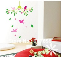 Hot sale!free shipping!15pc/lot,30*60cm,bird decoration wall sticker,wall paper