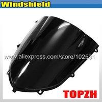 Free Shipping Black Motorcycle Windshield WindScreen Kawasak ZX10R ZX 10R 04 05 Y381