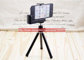 50pcs/lot Rotatable mini Tripod Stand Holder for iphone 4/3G Free DHL/UPS/Fedex