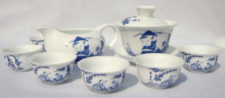 10pcs smart China Tea Set Pottery Teaset Child TM02 Free Shipping