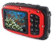 "Free shipping waterproof digital camera,2.7"" TFT screen,10m underwater 5 mega 8x zoom digital camera"
