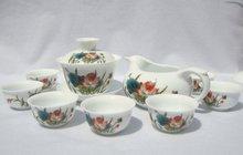 10pcs smart China Tea Set, Pottery Teaset,Water Lily,TM10, Free Shipping