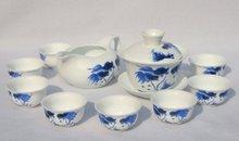 10pcs smart China Tea Set, Pottery Teaset,Gold Fish,TM15, Free Shipping