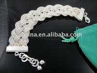 Wholsale, new 925 Sterling Silver fashion jewelry BRACELET bangle free shipping,Penoyjewelry B117