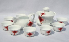 10pcs smart China Tea Set, Pottery Teaset,Chinese Knotting,TM21, Free Shipping