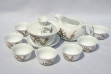 10pcs smart China Tea Set, Pottery Teaset,Cymbidium,TM22, Free Shipping