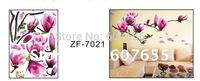 Hot sale!Free shipping!10pc/lot,50*70cm,decoration flower wall sticker,room sticker wall sticker