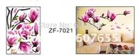 Hot sale!Free shipping!50pc/lot,50*70cm,decoration flower wall sticker,room sticker wall sticker