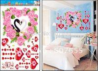 Hot sale!Free shipping!10pc/lot,50*70cm,decoration flower wall sticker,heart room sticker,love house sticker wall sticker