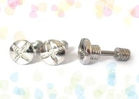 Free Shipping! 316L Stainless Steel Screw Fake Ear Plug,Stainless Steel  Body Jewelry