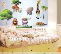 HOTSALE!!Free shipping!10pc/lot0 60*33cm cartoon animal decoration wall sticke room sticker house decal wall sticker