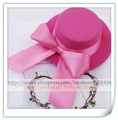 FREE SHIPPING Mini top hat HAIR clips BOWKNOT fascinator CUTE fashion Pink wholesale(China (Mainland))