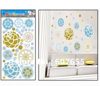 Hot sale!Free shipping!10pc/lot,60*33cm,flower wall sticker,wall decal,wallpaper wall sticker