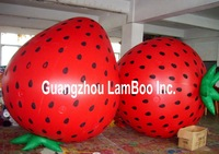 2.8 Meters Height Inflatable Helium Balloon Strawberry Shape for your Promotion