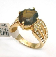 Freeshipping wholesale lot gorgeous Yellow Garnet Ring elegant finger rings