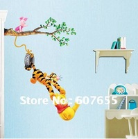 Hot sale!50pc/lot,Free shipping!animal kid decoration wall sticker room paper window decal(2size) wall sticker