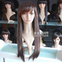Pretty human made hair women's full wig/wigs +Gift