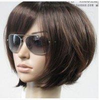 New Short Dark Brown Fashion BOB Wig+gift