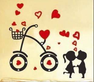 Free ship!!10 pc!!Removable three generations Cartoon  DIY wall sticker / portfolio posted / Magic Wall Stickers