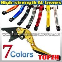 New High-strength AL 1 PCS Foldable Extend Brake Lever for SUZUKI GSR600/ABS 06-10 Z084