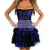 Free shpping Wholesale 5 color Sexy Gothic Lace up Boned corsets Party  Dress Sexy Lingerie Hot push up