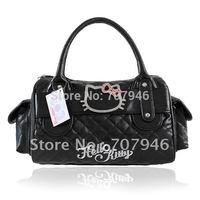 Retail Black Hello Kitty PU Leather-like Shoulder Tote Bag Handbag Purse Free Shipping