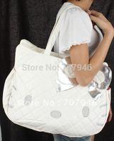 White Hello Kitty PU immitation Leather Shoulder Tote Bag Handbag Purse Free Shipping