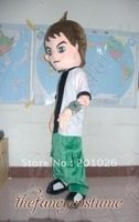 Sport Boy Ben 10 Character Costume Mascot Costume Adult Size Fancy Dress Party Outfit Free Shipping