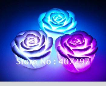 LED Rose,LED Light ,Rose Candle light Romantic Night  Color change LED