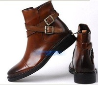 Wholesale - 2011 Shoes Men Ankle Boot Real Leather High Shoes New / Men's boots