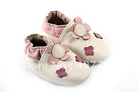 2013 Guaranteed 100% soft soled Genuine Leather baby shoes 0210