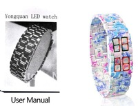 FREE SHIPPING Iron  LED Watch, Japanese Led Watch ,Ladies Watch