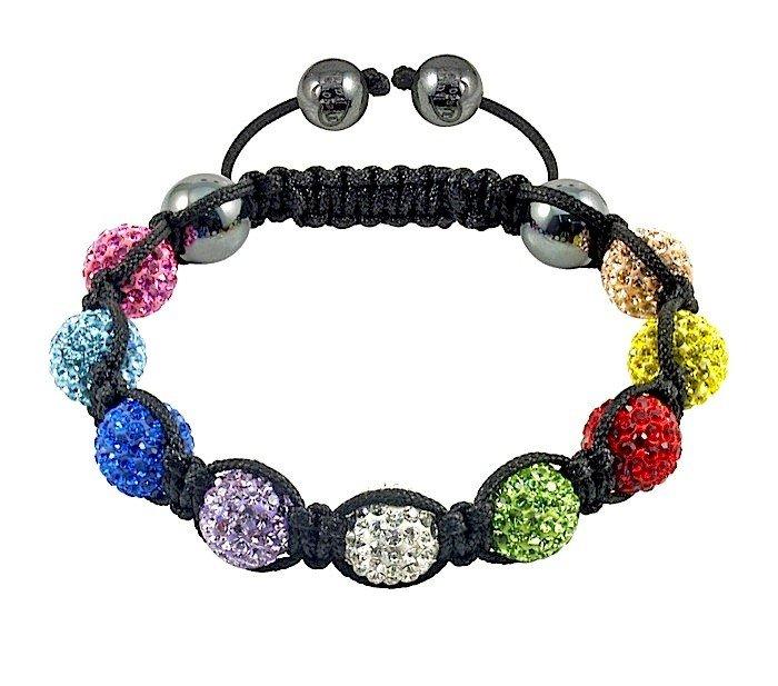 Shamballa jewelry Wholesale, free shipping, New Shamballa Bracelet Micro Pave CZ Disco Ball Bead,Shamballa Bracelet CJB092