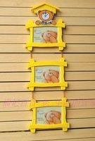 free shipping,5 inch animal house hanging photo frame, baby children photo frame, lovely cartoon hanging picture frames