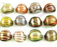 Italy Murano Glass Ring Mix Colors Mix Size 24pcs/lot