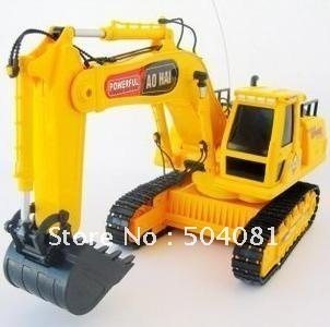 new arrival hot sale excavator children car toys construction vehicles car kid Wireless remote control truck 8channel large toys