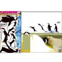 Free shipping,Decorative Penguin wall stickers, Children's Favorites,Fashion Cartoon Stickers,TC1039
