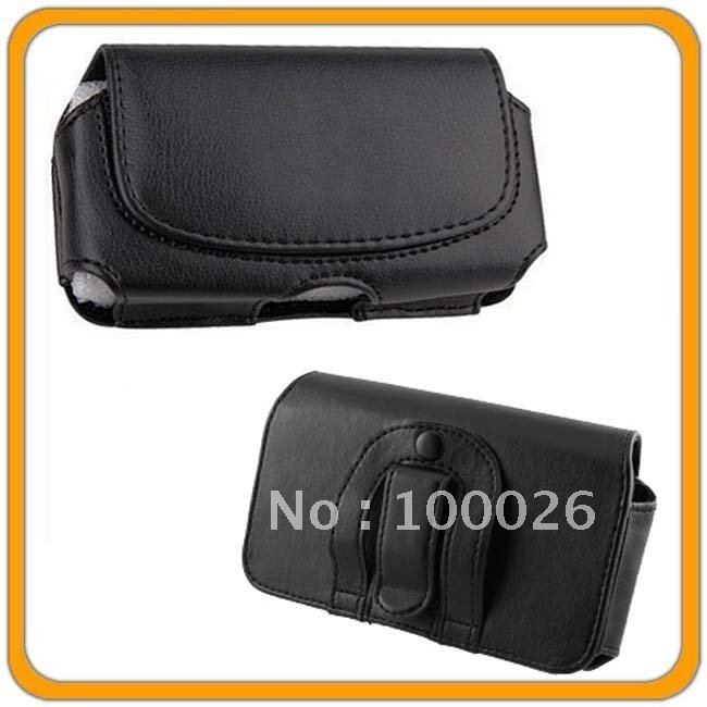 100PCS BY DHL Leather Pouch Case Cover Holster For HTC EVO 3D Sprint(China (Mainland))
