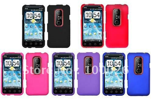 Rubberized Hard Cover Case for HTC Sprint EVO 3D 100PCS BY DHL Freeshipping(China (Mainland))