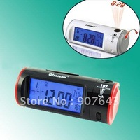 Sound Voice Control Backlight Projection LED Alarm Clock Thermometer Calendar Wholesale/Retail