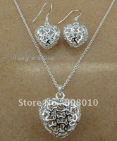 925 sterling silver necklace&earring,new fashion jewellery&gift box