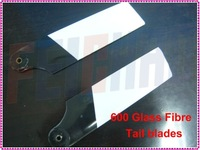 F01816 95mm Glass Fiber GF tail blades blade for Align T-Rex Trex 600 Nitro Electric RC Helicopter  + Free shipping